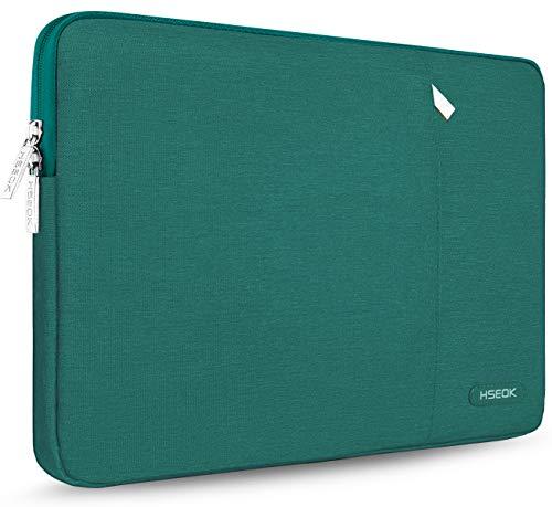 HSEOK 15,6 Zoll Laptop Hülle Tasche,Stoßfeste Wasserdicht PC Sleeve kompatibel mit die meisten 15,6 Zoll Laptops Dell/HP/Lenovo/Acer/Asus,Dunkles Grün