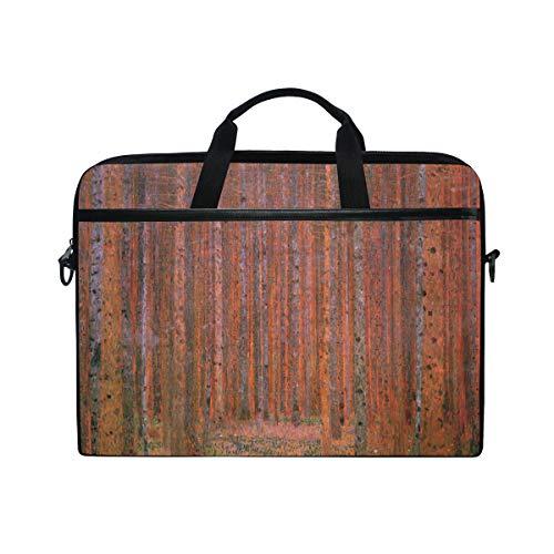 Ahomy 13.3-14 Inch Laptop Bag, Beech Grove By Gustav Klimt Multifunctional Fabric Waterproof Laptop Case Briefcase With Shoulder Strap