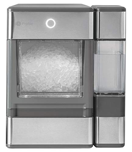 GE Major Appliances OPAL01GEPKT GE Profile Opal | Countertop Nugget Ice Maker, Stainless Steel Wrap with Gray Accents & LED Lighting