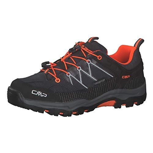 CMP Campagnolo Rigel WP Low-Cut - Scarpe da trekking per bambini, colore antracite-Flash arancione, taglia EU 31 2021