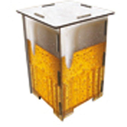 Hocker im Design Bier orange weiss von Werkhaus