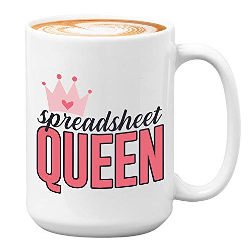 Accountant Coffee Mugs - Spreadsheet Queen - Funny GiftsFor Accountants CPA Certified Public Accountant Occupation Job Comptroller Auditor Tax Accounting Students