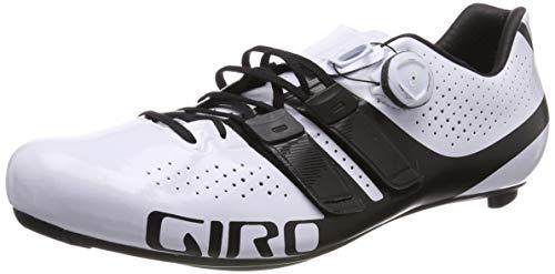 Giro Factor Techlace Road, Herren Radsportschuhe - Rennrad, Mehrfarbig (White/Black 000), 42.5 (8 UK)