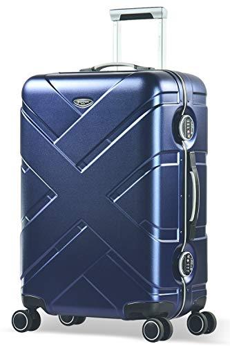 Eminent Suitcase Gold Crossover 67 cm 66 L Aluminium Frame 4 Double Silent Wheels TSA Lock Blue/Grey