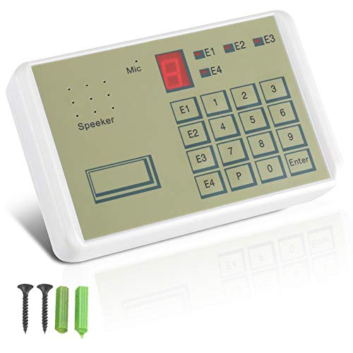 Bewinner Telephone Voice Dialer, Wired Telephone Voice Auto-dialer Burglar Security House Alarm System for Home Office Security, Telephone Dialer Alarm Dialer Put All-Round Automatic Dial-up Help