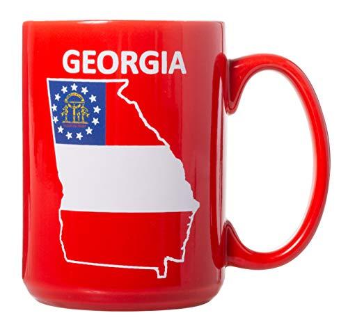 Kaffeetasse mit Flagge des Vereinigten Königreichs von Georgien, beidseitig bedruckt, 425 ml