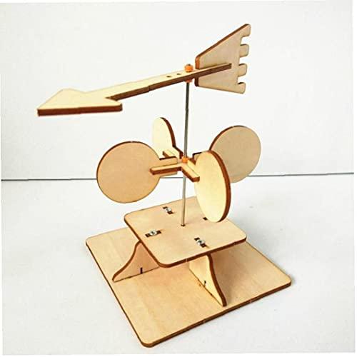 Ruluti Science Kit Kinder Kreative DIY Experimente Handmade Wetter Wind Vane Schule Teaching Bildung Lernspielzeug 1 Set Holz Farbe