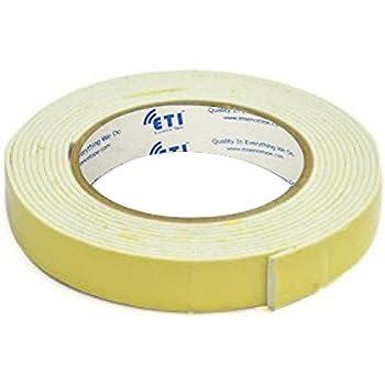 ETI Double Side Foam Tape 24mm X 5Meter Set of 3, White