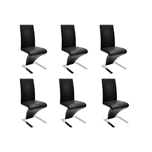 Festnight 6er Set Schwingstuhl Stuhlgruppe 2 Farbe Optional