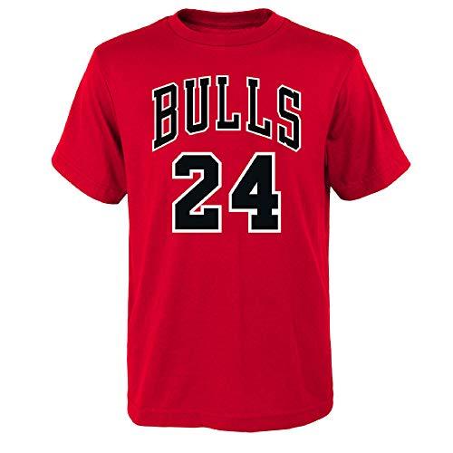 OuterStuff NBA Kinder T-Shirt Chicago Bulls Lauri Markkanen 24 Basketball Youth Trikot (L (14/16))