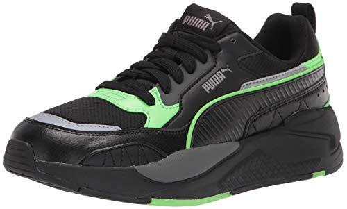PUMA Men's X-Ray 2 Square Sneaker, Black Black-Elektro Green-Steel Gray-Dark Shadow, 9.5 Women/11 Men