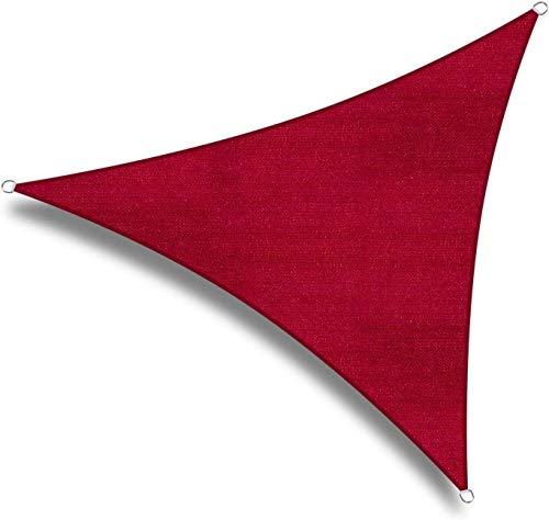 Triángulo Rojo Sombra toldo Toldo Toldo, 95% UV Bloqueo Agua y Permeable al Aire, Comercial y Residencial, Patio Patio por Pergola (Size : 3x3x3m)