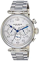 powerful Akribos XXIVAK764SS Magnificent men's watch in stainless steel with bracelet