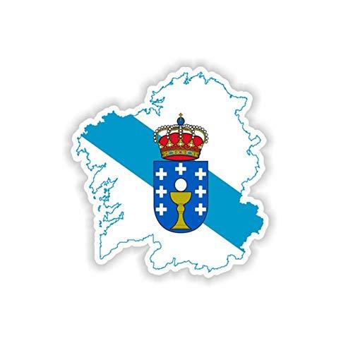 Pegatina Mapa Galicia Bandera Vinyl Vinilo Adhesivo Sticker stiker Casco Moto Bike Bici