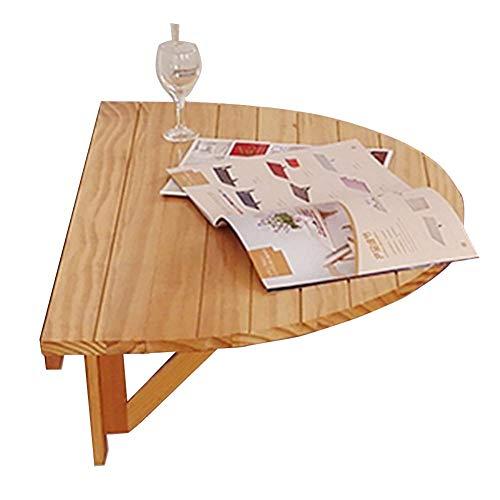 XUE Falttisch Aus Massivem Holz Zur Wandmontage Multifunktioneller Halbrunder Schreibtisch/Computertisch Gartentisch Esstisch - 2 Farben A ++ (Farbe : A)