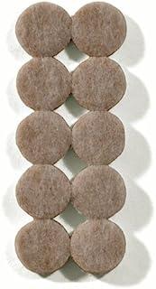 The Felt Store Almohadillas Protectores de Fieltro Extra Durable, Beige, Aprox. 1,9 cm ø ? 90 Piezas (10 Unidades/Hoja), protección Suelos mesas sillas - Made in Canada