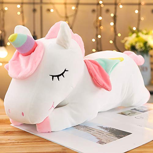 N / A Juguete de Peluche Bestia de tamaño Gigante muñeca de Unicornio de Dibujos Animados rellena Suave Caballo Animal Regalo niños 60 cm