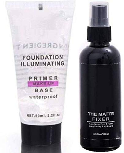 Angelie Most Beautiful Trending Fixer combo with Primer Foundation Luxury Primer – 150 ml (Transparent)