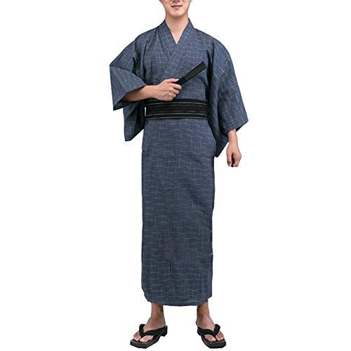 Kimono japonés de Yukata japonés para Hombres Vestido de Pijamas japonés para el tocador Home # 11