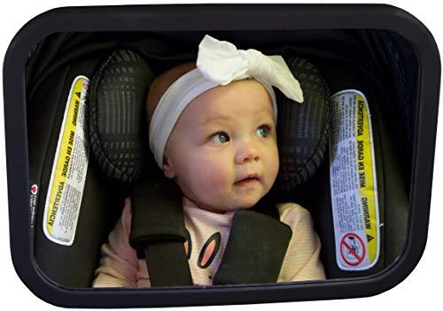 Baby Watch Espejo de Coche de bebé (sin luz) | Espejo de Asiento Trasero para bebé | A Prueba de roturas, Completamente ensamblado