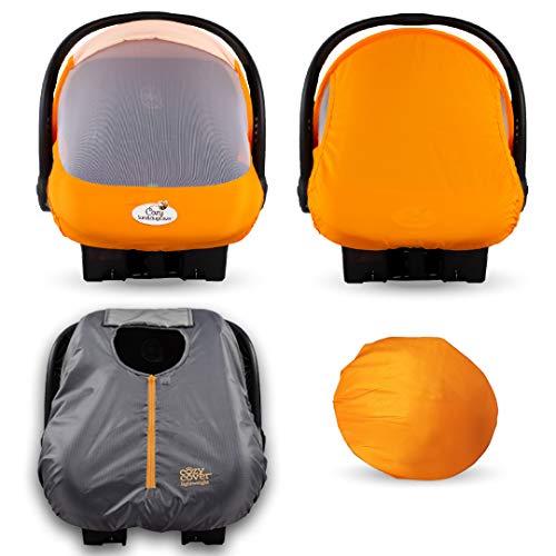Cozy Combo Pack (Orange Mango) – Sun & Bug Cover Plus a Lightweight...