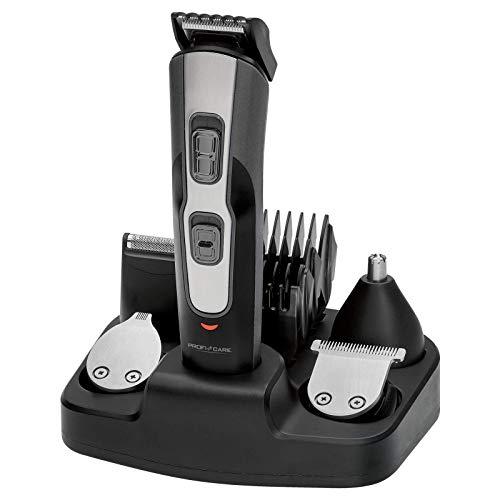 ProfiCare BHT 3014 - Set de Cortapelo con Afeitadora Barba, Recortador de Precisión y Cortador Oído Nariz, Batería Recargable, Negro