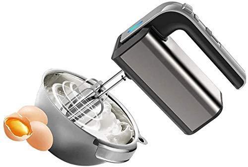 NLRHH Hand Hand Mixer de la Mano 5 velocidades eléctricas Mezclador de Mano 300W Ultra Power Cocina (2 batillos y 2 Ganchos de Masa) Mezcladores Viejos E Herramientas de Cocina Peng