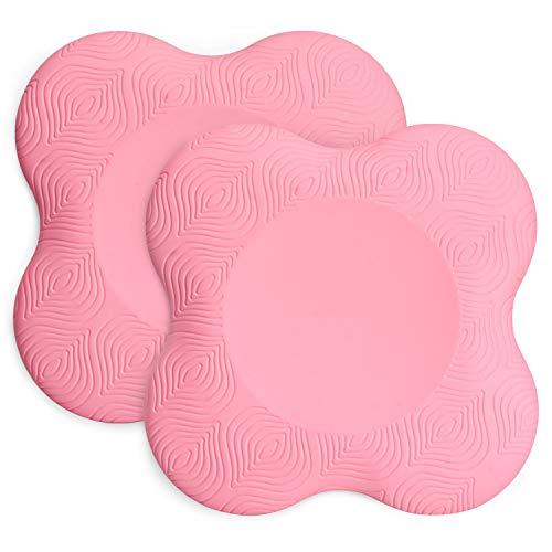 TOBWOLF - Rodilleras de yoga, antideslizante, espuma para yoga, cómoda almohadilla de apoyo de yoga, cojín de equilibrio de ejercicio para proteger la rodilla, tobillo, codo, muñeca, mano - rosa