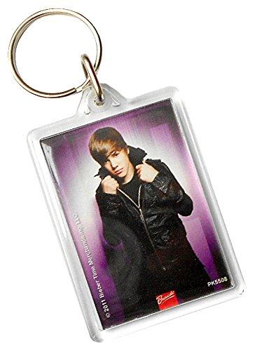 Justin Bieber - Schlüsselanhänger Purple (in 4 cm x 9 cm)