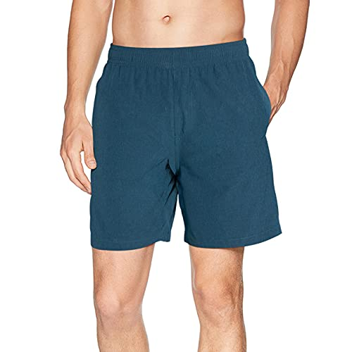 Goodstoworld Pantalones Deportivos Cortos para Hombre Pantalones Impermeables para Senderismo Pantalones Cortos para Correr con Bolsillos Running Shorts Azul Grisáceo M