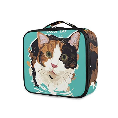 Outils de stockage portables Cosmétique Train Case Maquillage Sac Voyage Mode Trousse De Toilette Mignon de Bande Dessinée Calico Cat
