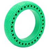 BigKing Neumático sólido Hueco para Scooter, neumáticos sólidos Huecos para Scooter eléctrico de 8.5x2.0 Que evitan pinchazos y neumáticos Antideslizantes para M365(Verde)