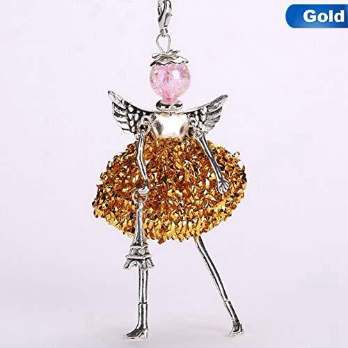 NASHUBIA nieuwe schattige zilveren puin pop lange ketting kettingen voor vrouwen Hot merk vleugels meisjes engel hanger metalen Maxi sieraden mode