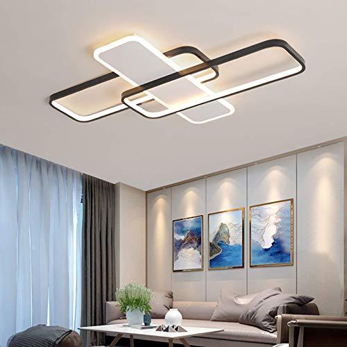 Lámparas de techo LED modernas lámpara de sala de estar de dormitorio empotrada regulable con control remoto para cocina iluminación interior para el hogar 110 * 75 cm