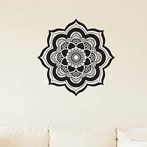 Mandala pegatinas de pared decoración del hogar flor pared calcomanía Buda Yoga sala de estar dormitorio Art Deco Mural calcomanía pegatina A9 61x59cm