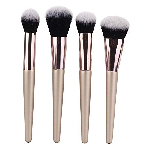 Set de pinceaux de maquillage, 4pcs pinceaux de maquillage Set brosse de maquillage des cheveux cosmétiques outils de beauté, Premium Synthetic Foundation Brush Blending Powder Cosmetics Beauty Tools