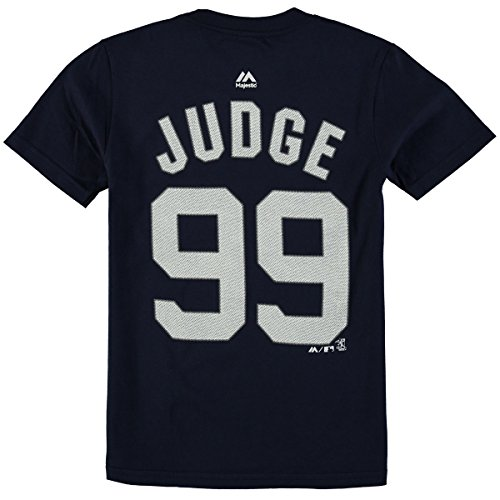 Majestic Aaron Judge New York Yankees #99 MLB Youth Player T-Shirt (Youth Medium 10/12)