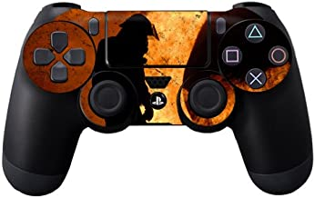 MightySkins Skin Compatible with Sony PS4 Controller - Fire Fighter | Protective, Durable, and Unique Vinyl Decal wrap Cover | Easy to Apply, Remove, and Change Styles | Made in The USA