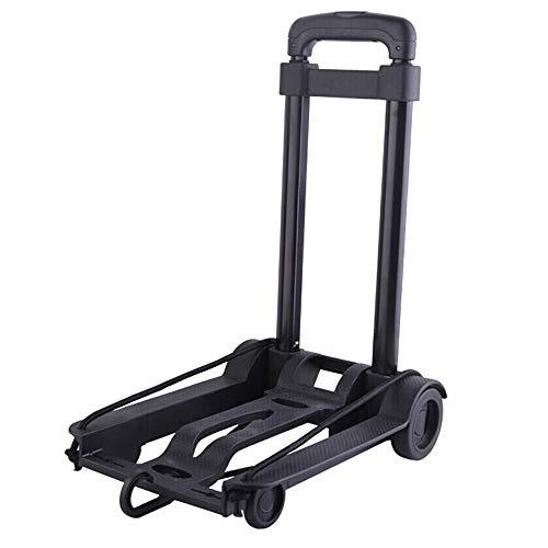 GF Carro de mano, carrito plegable negro para equipaje de coche, carrito...