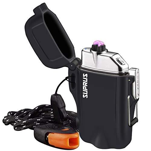 SUPRUS Waterproof Lighter 3 Modes of Flashlight Windproof Lighter Dual...