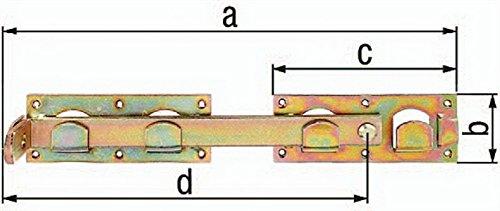 Doppeltorüberwurf 430x70mm Stahl roh feuerverzinkt GAH