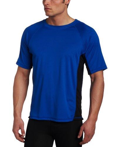 Kanu Surf Men's CB Rashguard UPF 50+ Swim Shirts (Regular & Extended Sizes), Royal, 5X
