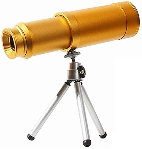 JeeKoudy Telescopios monoculares con Ocular Grande 10X50, Todo Espejo óptico elástico de Metal, telescopios Ligeros pequeños Impermeables