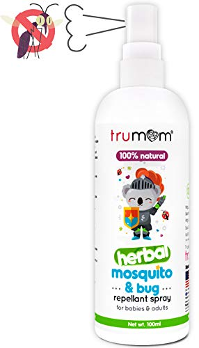 Trumom Natural Herbal Mosquito Insect Bug Repellant Spray Deetfree for Infants Babies Kids &...