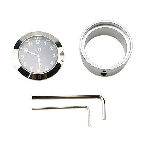 Wasserdichte Universal-Uhr für Motorräder, 30–34 mm, mit Gabelschloss.