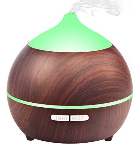 Avaspot Difusor de Aceites Esenciales, 250ml Ultrasónico Aromaterapia Humidificador, Operación silenciosa, Auto Shut Off, bebé, Yoga, Oficina, hogar, Dormitorio y baño, etc