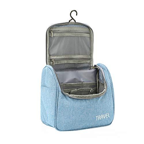 Kulturbeutel Waschtasche Unisex - Acdyion Aufhängen Kosmetiktasche Reise-Tasche für Herren und Frauen für Koffer & Handgepäck Urlaub Waschbeutel Toiletry Bag (Blau)