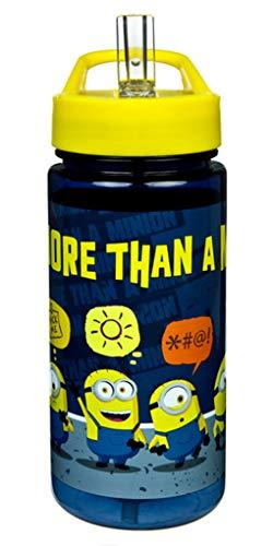 Minions - Botella de plástico (400 ml), diseño de Gru, mi villano favorito
