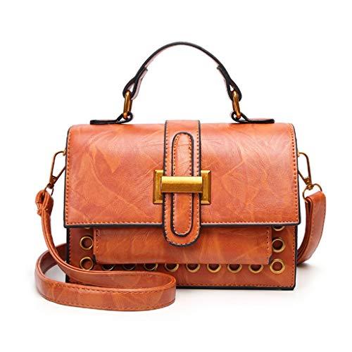 GZQDX Handtasche, Frauen Softleder PU-Schulter-Bag, Große modische Handtasche