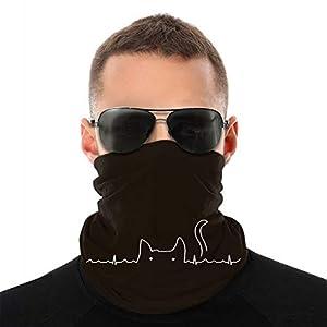 黒い猫 ハートビート フェイスカバー ネックカバー Uvカット ネックガード 冷感 夏 紫外線対策 吸汗速乾 日よけ サイクリングカバー 防風 多機能 自転車 フリーサイズ 男女兼用